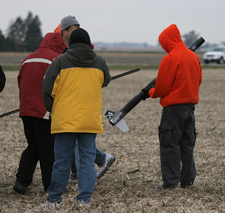 Students load the fifth and final class rocket on the pad.  Photo by Greg Smith