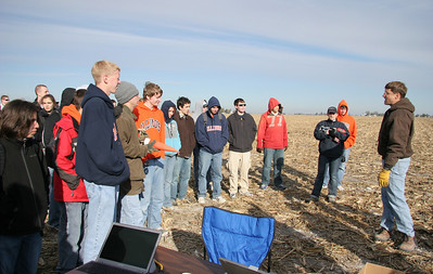 The students get final instructions before the launch begins.  Photo by Greg Smith