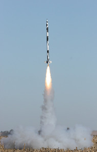 Liftoff of the third rocket.  Photo by Greg Smith