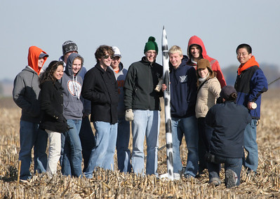 "The third team with their ""cow flavored"" rocket.  Photo by Greg Smith"