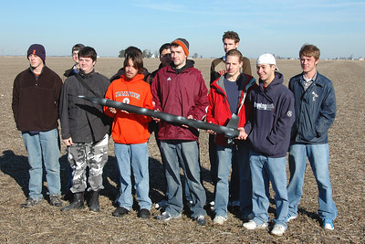 One of the AE199 class groups with their rocket, a modified BSD 38 Special.  Photo by Alan Carroll