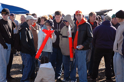 Before the launches began, one of the groups begins to prepare their rocket for flight.  Photo by Alan Carroll