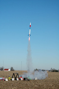 Launch of a rocket by William Carney.  Photo by Alan Carroll
