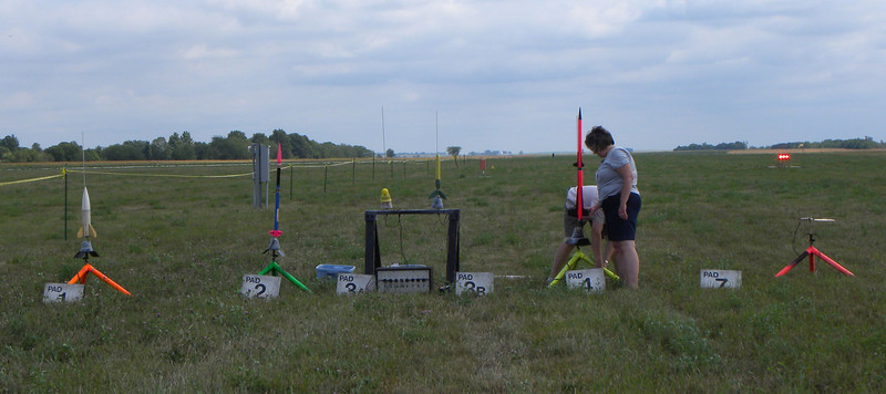 Our set up, just North of the East-West runway. photo by Christopher Brian Deem