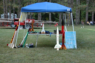 Our display stand, just north of the field.  Photo by Alan M. Carroll