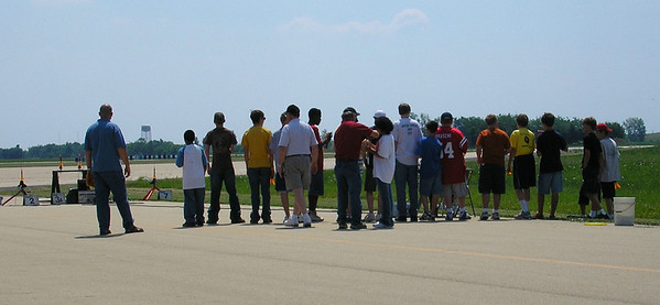 The group of space campers prepares to launch.  Photo by Christopher Brian Deem