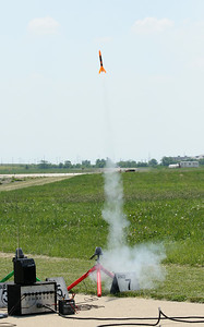 Another successful launch of an Alpha III.  Photo by Greg Smith