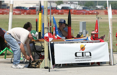 The CIA display area during the airshow on Sunday.  Photo by Greg Smith