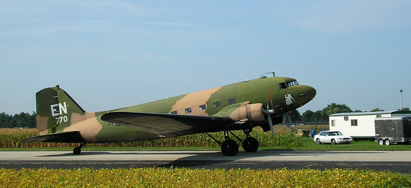 A C-47 in camouflage. photo by Christopher Brian Deem