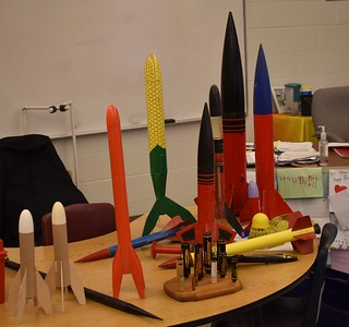 Some of the rockets we brought with us.