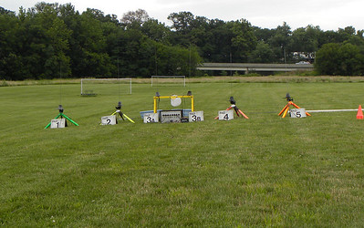 Our set up at the park on the East side of Mahomet. The bridge in the background carries Route 150 over the river. photo by Christopher Brian Deem