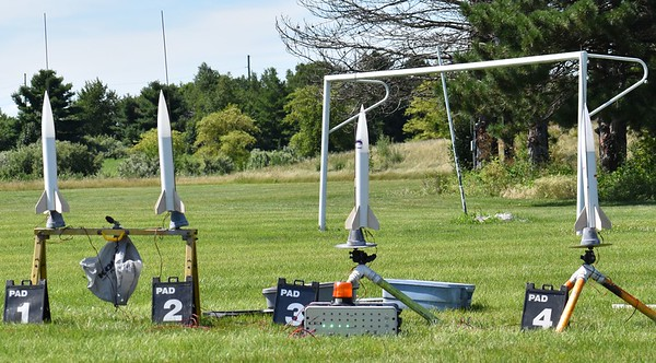 """The first four of the 3"""" School Rockets."""