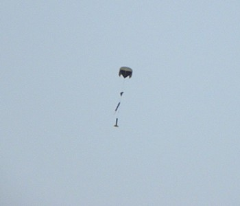 The parachute came out at apogee, and was held closed to 500 feet with a Jolly Logic Parachute Release.