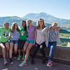 Students from the Pacific Northwest learn about Earth science through GeoGirls, a five-day field camp for 18 middle school girls, four high school mentors, and two middle school teachers on Mount St. Helens. August, 2016. (Photo/Beth Bartel, UNAVCO)