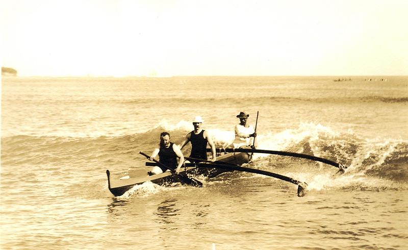 Canoe Surfing Waikiki