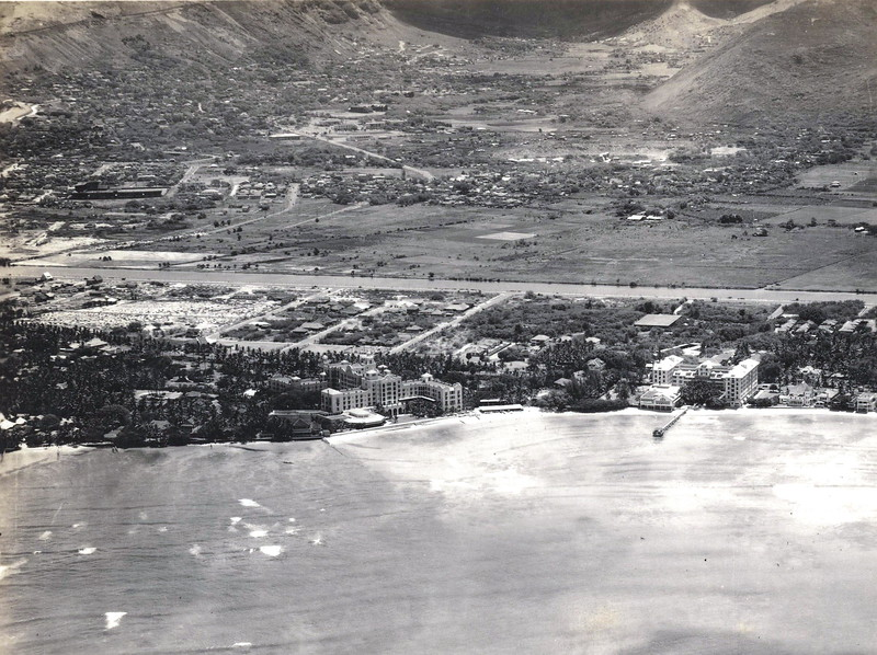 Manoa from Waikiki Beach 1930