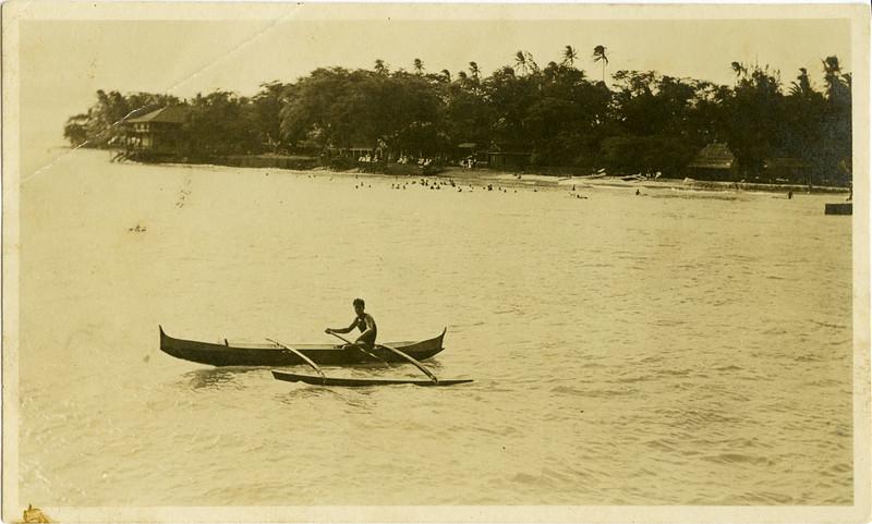 Canoe Paddling c 1908