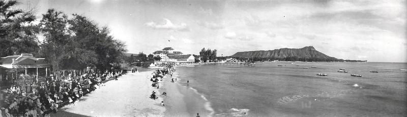 Canoe Races at Waikiki Beach 1910