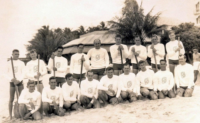 1933 Outrigger Canoe Club Canoe Racing Team
