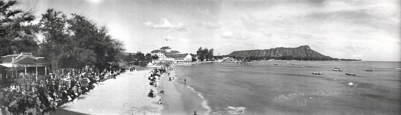 Canoe Races at Waikiki Beach July 4, 1910