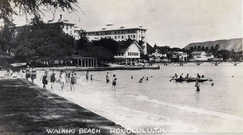 Waikiki Beach 1920-1930