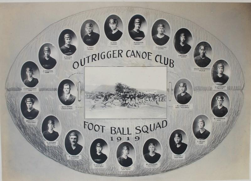 Outlrigger Canoe Club Football Squad 1919