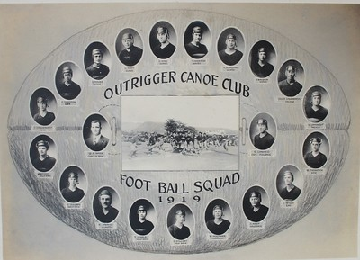 Outlrigger Canoe Club Football Squad 1919