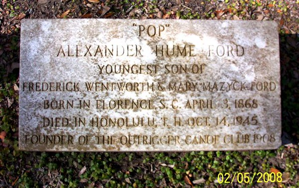 Alexander Hume Ford Headstone