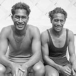 Olympians Duke and Sam Kahanamoku