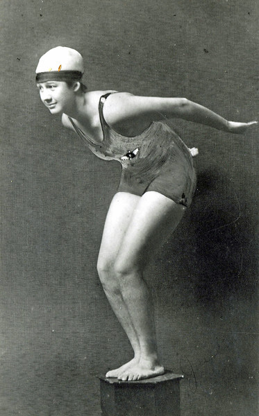 OCC Swimmer Josephine Hopkins 1919