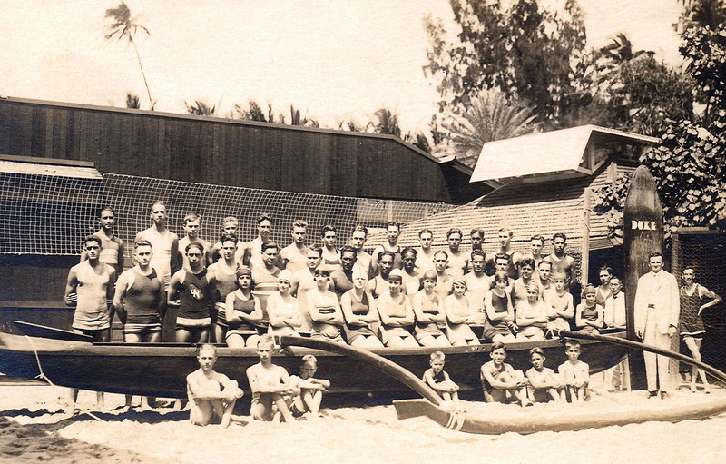 """Dad"" Center's Swimmers c1922"