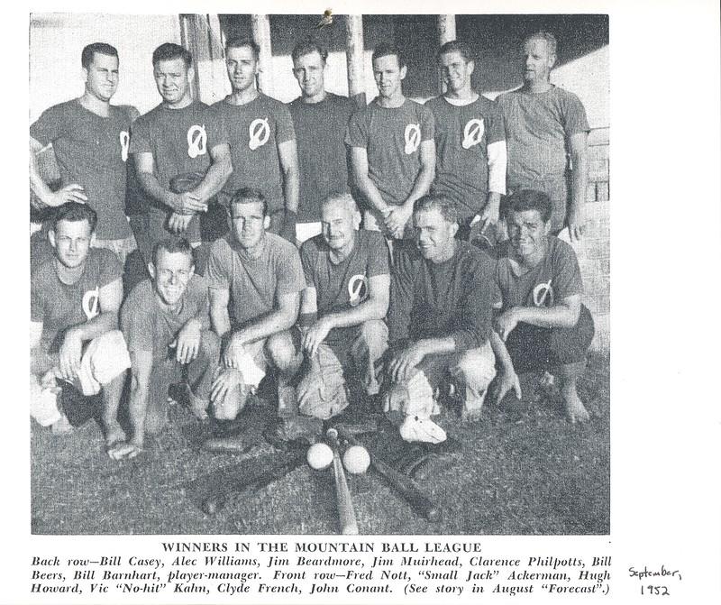 1952 OCC Mountain Ball Champions