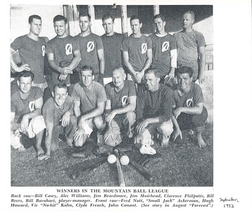 1952 OCC Mountain Ball Champions
