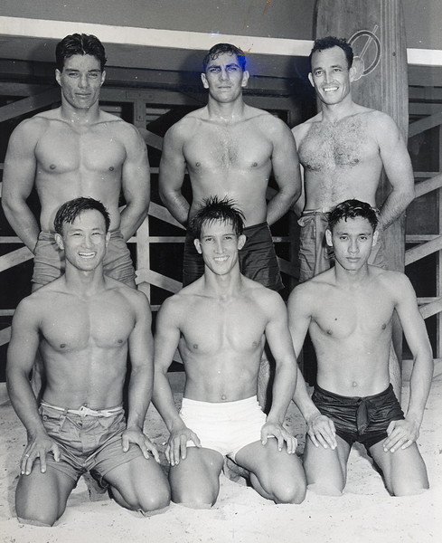 1940s Outrigger Canoe Club Paddlers