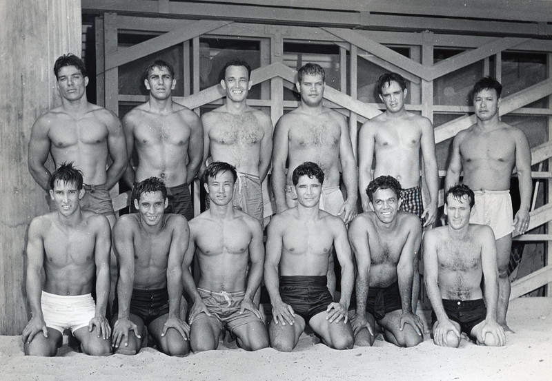 1940s Outrigger Canoe Club Paddling Crew