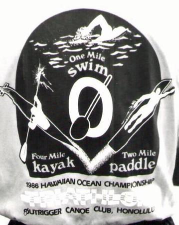 3rd Annual Hawaiian Ocean Triathlon 3-8-1986