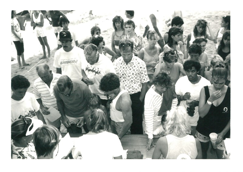 1987 Canoe Racing Pep Rally