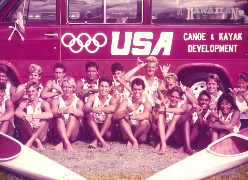 The Hawaii Canoe and Kayak Team at the 1988 Nationals