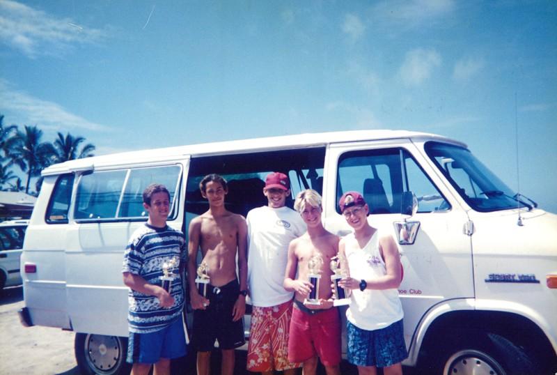 1995 Outrigger Junior Surf Team