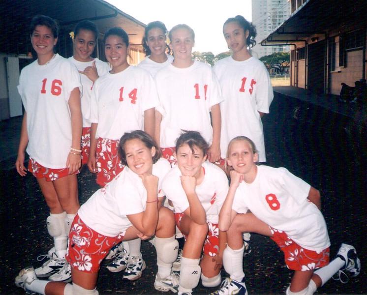 1997 Outrigger Girls 14 Volleyball Team