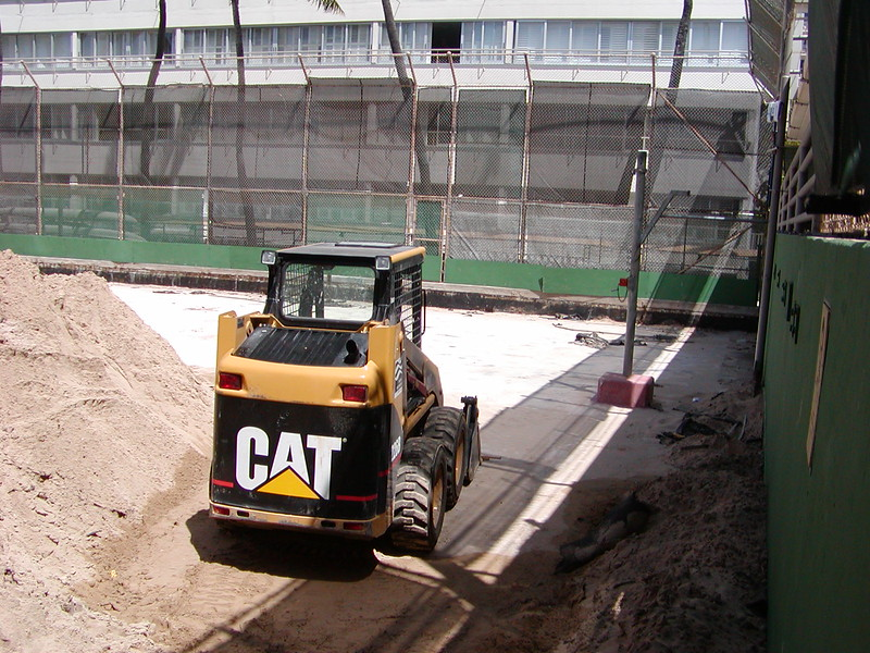 2004 Volleyball Court Construction