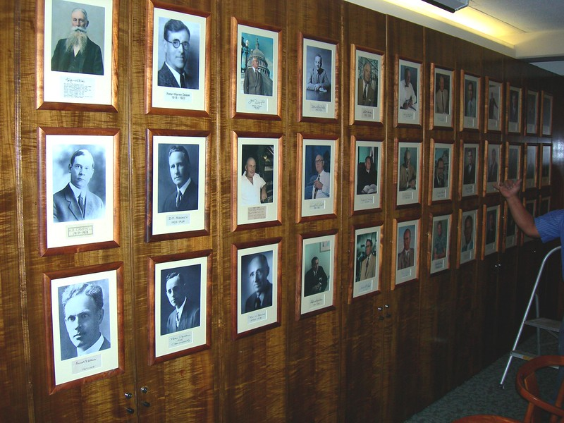 2006 Board Presidents' Photos Rehung 4-26-2006