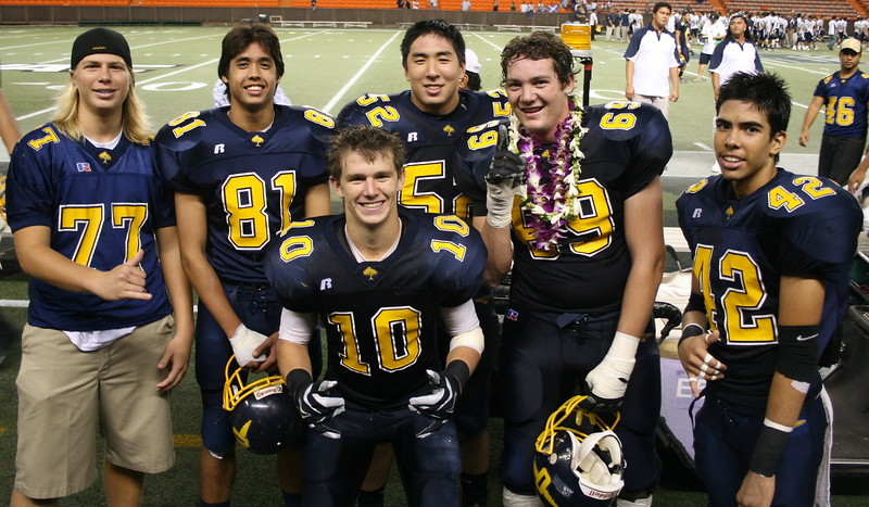 2007 Junior ʻRiggers are Punahou Gridders