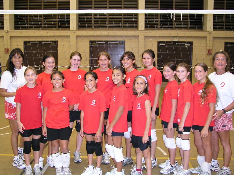 2007 Girls 12 Volleyball Team