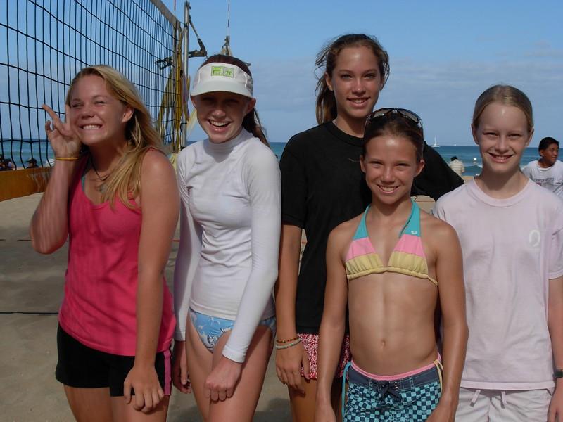 2007 Outrigger Girls 14 Sand Volleyball Team