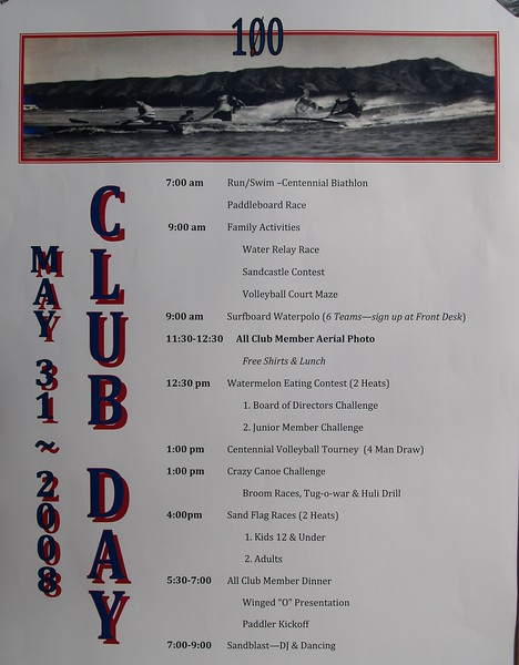 2008 Centennial Club Day