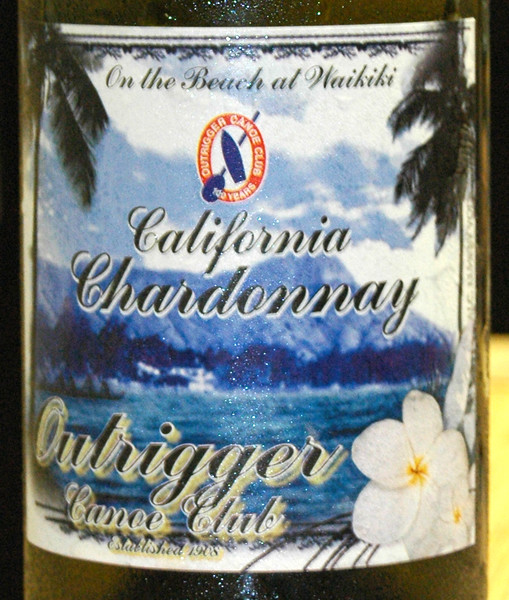 2010 Outrigger Chardonnay Label