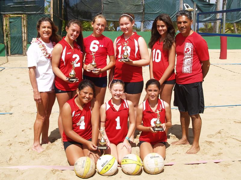 2011 Outrigger Girls 14 Volleyball Team
