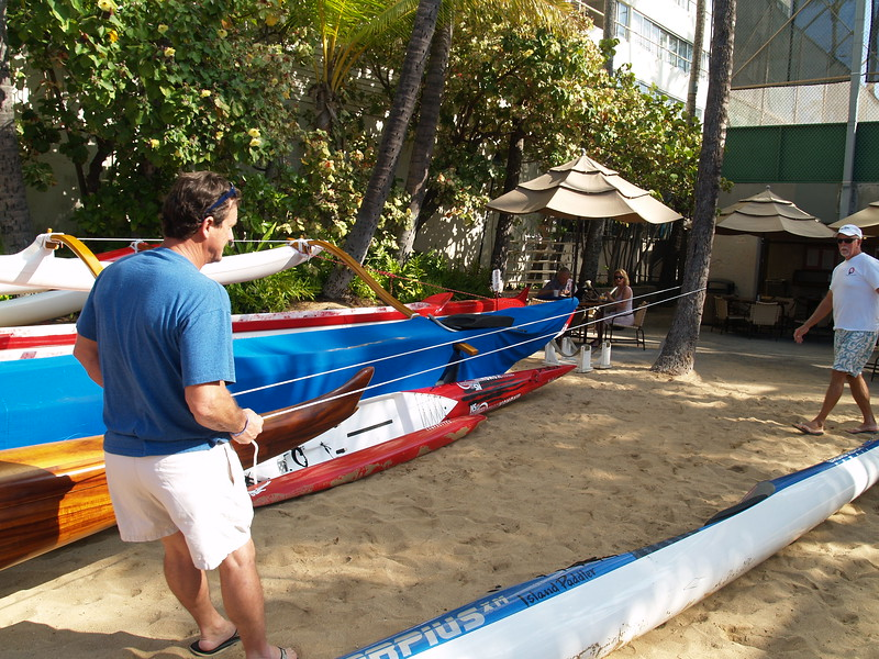 Rigging an OC6 Koa Racing Canoe