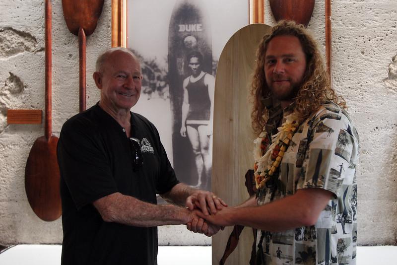 2015 ODKF Receives Alaia Surfboard
